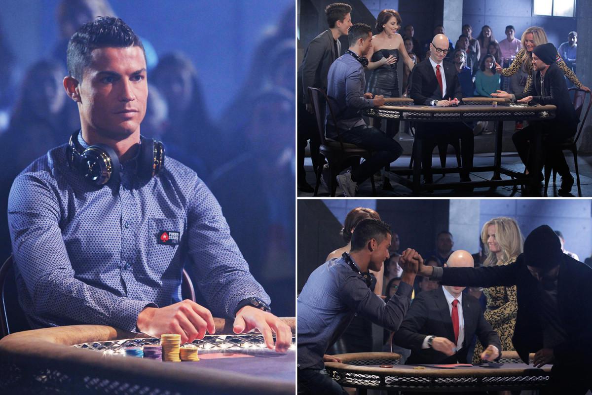 CRISTIANO RONALDO telah menunjukkan dia seorang ace di lapangan sepak bola dengan mengalahkan aktor Breaking Bad Aaron Paul dalam permainan perayaan poker.